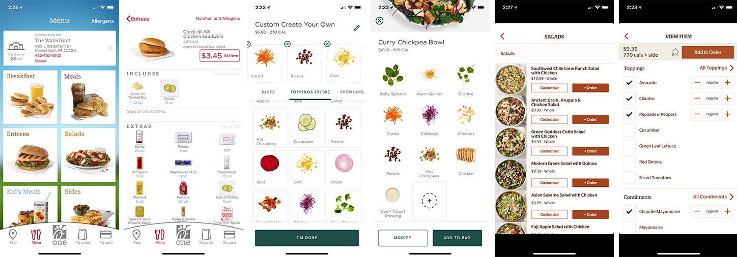 Mobile Food Ordering Inspiration