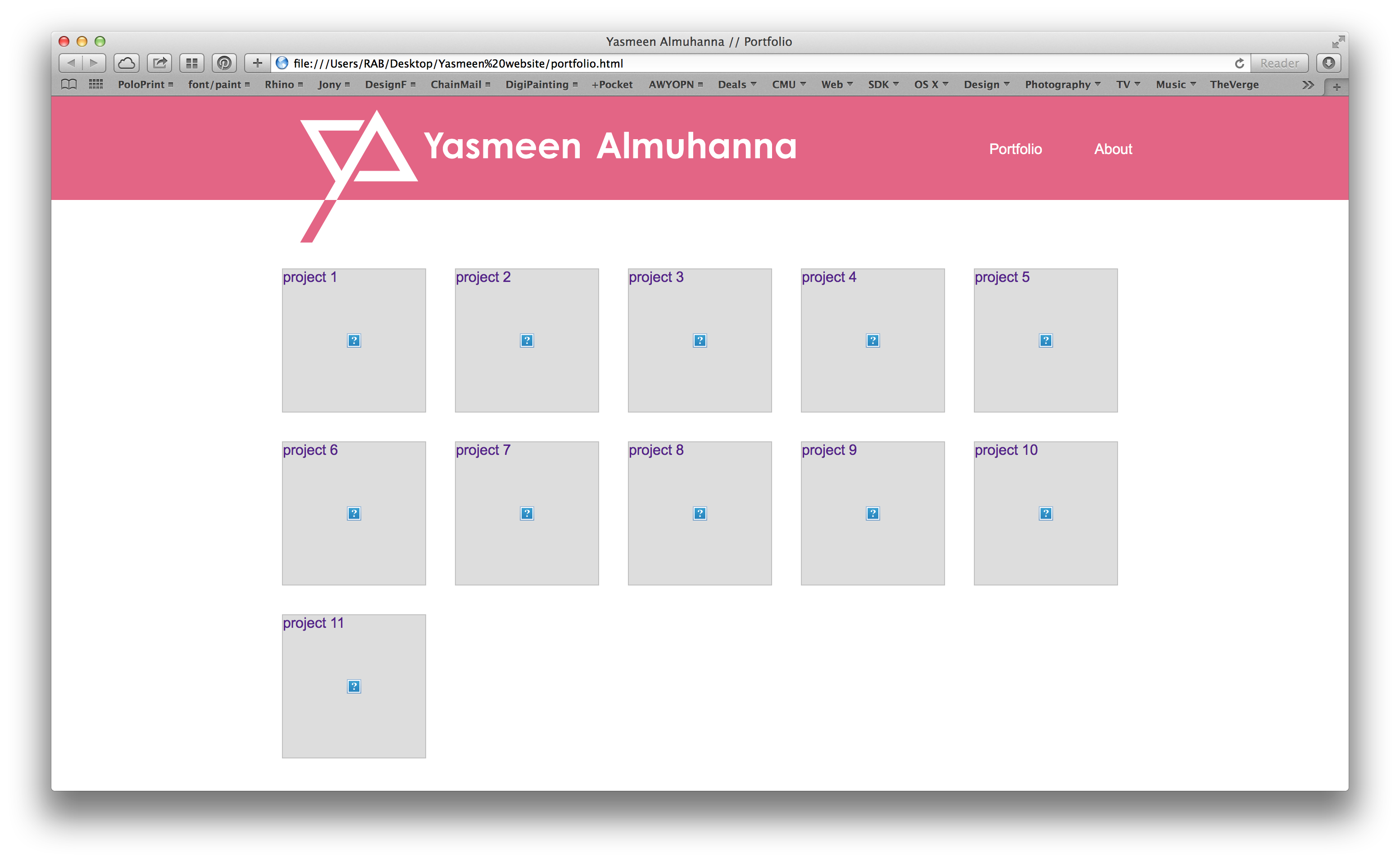 Yasmeen Almuhanna Website